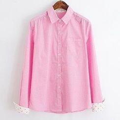 ninna nanna - Patterned Panel Gingham Shirt