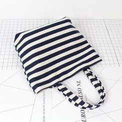 Ms Bean - Stripe Canvas Lunch Bag