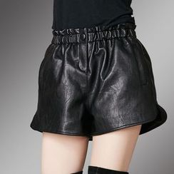 Shawale - Faux-Leather Shorts