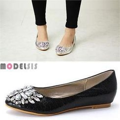 MODELSIS - Jewel-Accent Flats