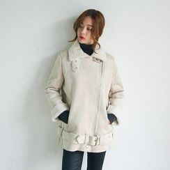 Envy Look - Faux-Shearling Rider Jacket