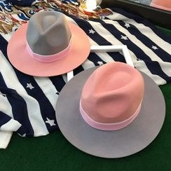 FROME - Color Block Fedora Hat