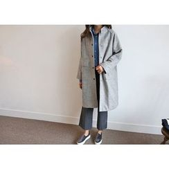 Hello sweety - Mandarin-Collar Wool Coat