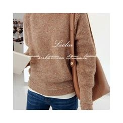 LEELIN - Raglan-Sleeve Wool Blend Sweater