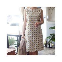 MASoeur - Sleeveless Floral Print Shift Dress
