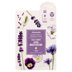 Mamonde - Double Effect Ampoule Mask (Violet Flower Ultra Moisturizing): Ampoule 1ml + Mask 1sheet