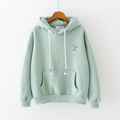 Sunny Day - Deer Embroidered Hoodie