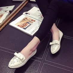 EMIL - 蝴蝶结尖头平跟鞋