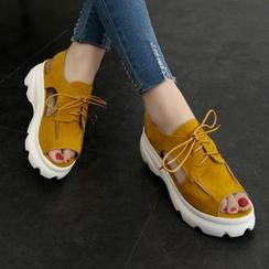 EMIL - Platform Peep-toe Sandals