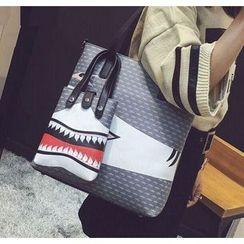 Youshine - Shark Print Shopper Bag