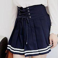 Sechuna - Pleated Sailor Skirt