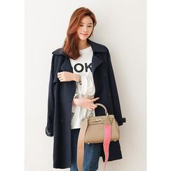 J-ANN - Double-Breasted Trench Coat