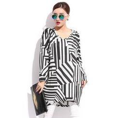 Simply Wear - Long-Sleeve Pattern Top