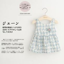 Cuckoo - Kids Checked Sleeveless Dress