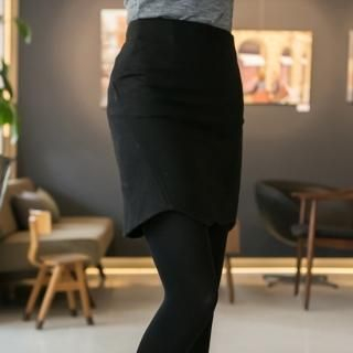ode' - Wool Blend Pencil Skirt
