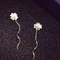 Love Generation - Clover Thread Through Drop Earrings