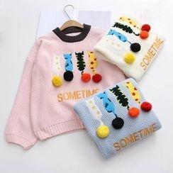 白金天使 - 貓貼布繡毛衣