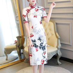 Miss Four Qipao - 中袖碎花旗袍