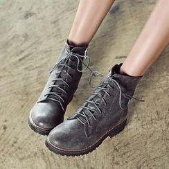 JY Shoes - Military Mid-calf Boots