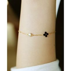 Miss21 Korea - Flower-Charm Chain Bracelet