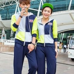 Lovebirds - Set: Hooded Zip Couple Matching Jacket + Pants