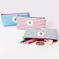 Bookuu - 条纹帆布笔袋