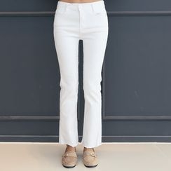 DANI LOVE - Fray-Hem Boot-Cut Pants