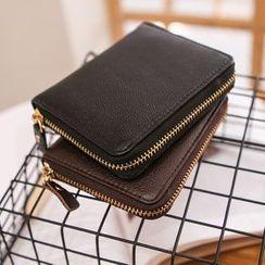 MR.BLUE - Genuine Leather Zip Wallet