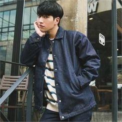 STYLEMAN - Button-Front Denim Jacket