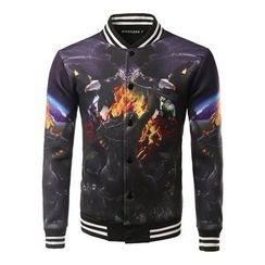 Fireon - Printed Baseball Jacket