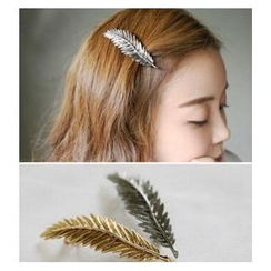 Glamiz - Metallic Leaf Hair Barrette