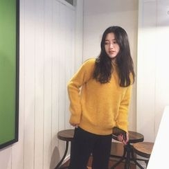 QZ Lady - Plain Furry Sweater