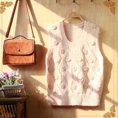 Angel Love - Floral Knit Vest