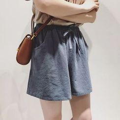 Meimei - Plain Linen Cotton Skort