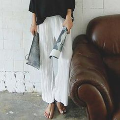 REDOPIN - Pleated Wide-Leg Pants