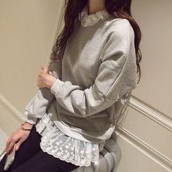 Wimi girls - Lace Trim Pullover