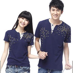 Igsoo - Couple Floral T-Shirt