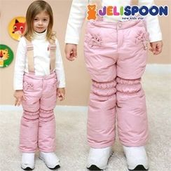 JELISPOON - Girls Padded Suspender Pants