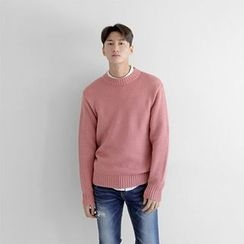 Seoul Homme - Crew-Neck Colored Sweater
