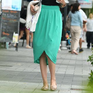 59 Seconds - Chiffon Tulip Skirt (Belt not Included)
