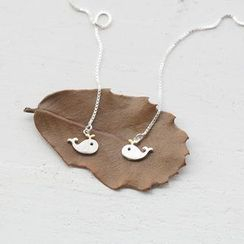 Love Generation - Sterling Silver Whales Earrings