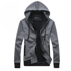 Free Shop - Double-Layered Hooded Zip Jacket