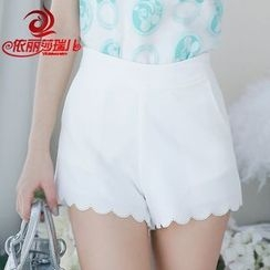 Elisa Rachel - High Waist Chiffon Shorts