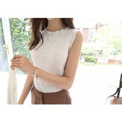 Hello sweety - Sleeveless Textured Top