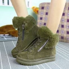 EMIL - Furry Trim High Top Sneakers