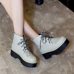 Pastel Pairs - Platform Short Boots