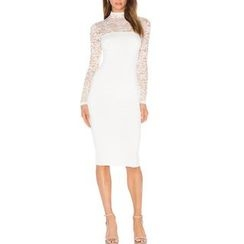 Dream a Dream - Long-Sleeve Lace Sheath Dress