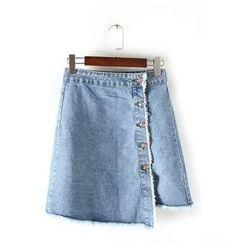 Ainvyi - Asymmetrical Denim Skirt