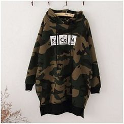 Maymaylu Dreams - Camouflage Printed Fleece-Lined  Long Top