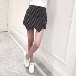 艾女 - 條紋裙褲